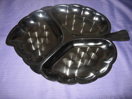 Vintage Chrome Leaf Shaped Relish Tray - $4.99