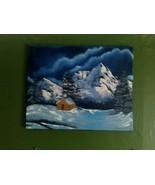Serenity Mountain Original Landscape Oil Painti... - $100.00