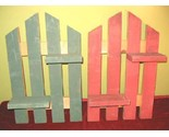 Buy Decorative Plant Stands - 2 Decorative Pine Picket Fence Wall Hanging Plant Stand