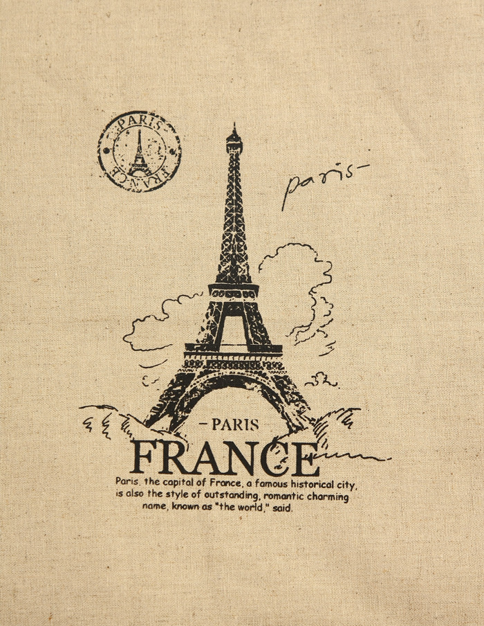 Eiffel Tower Fabric Panel