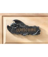 Dragon Welcome Sign Wall Plaque Goth Medieval  - $14.00