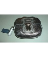 NEW COACH POPPY SILVER ANTHRACITE LEATHER COIN ... - $99.99