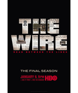 THE WIRE Poster * FINAL SEASON * HBO Huge 4' x ... - $130.00