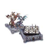 CHESS set game medieval fortress Dragons and kn... - $79.97