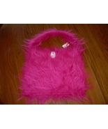 Fushia Pink Fluffy Faux Fur Homemade Purse Tote... - $10.00