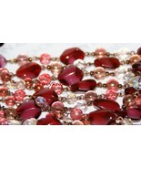 Ruby & Pink Topaz Beaded Necklace ~ BNWT! - $395.00