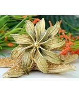 Vintage HAR Signed Enamel Flower Poinsettia Bro... - $34.95