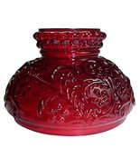 Ruby Red Glass Oil Lamp Shade Miniature 4 inch ... - $19.95