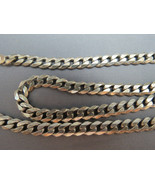 VTG Sterling Silver 925 Curb Style Chain Neckla... - $64.99