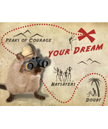 Funny Gerbil Inspirational Card: Dream Map - $4.25
