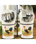 Country Rooster Kitchen Flatware Utensil Holder - $21.50