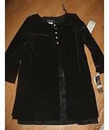 Filigree Ltd Black Velure Dress Lined Satin Lin... - $20.99