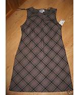 Ladies DBY Black Brown White Red Gray plaid Dre... - $15.99