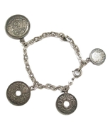 Vintage 1910's 1930's Silver French Coin Charm ... - $55.00