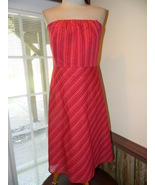 Banana Republic size 12 Strapless Sundress Reds... - $19.99
