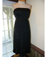 Banana Republic size 4 Black Strapless Silk Coc... - $29.99