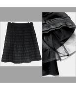 BCBG Max Azria Black skirt 6 Silk Tulle Lace Fu... - $59.99