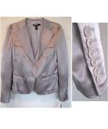 NWT DKNY silk satin blazer Shimmery taupe 10 $3... - $149.99