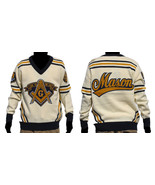 Freemason Mason Long Sleeve Sweater Blue Gold V... - $128.24
