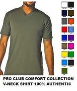 RED SHORT SLEEVE V-NECK T SHIRT by PRO CLUB COM... - $33.44 - $47.16