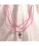 Hot Pink Beaded Convertible Necklace and Bracel... - $15.00