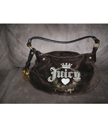 Juicy Couture Espresso Velour Hobo HandBag - $40.00