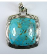 Cabochon Pyrmraid of Turquoise Sterling Silver ... - $166.08