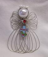 Christmas Peace Cross Angel Ornament Handmade New - $7.65