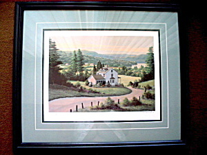"Original Signed Print ""Hillside View"" by Bill Saunders Numbered 70/500"