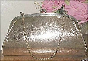 Vintage Gold Foil Handbag or Clutch Purse Adjusts