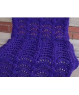 original design hand knitted of fan stitch amet... - $40.00