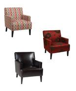 Ave Six Carrington Accent Armchair Wood & Fabri... - $239.99