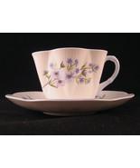 Shelley Blue Rock Tea Cup & Saucer #13591 Bone ... - $44.54