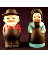 Amish Salt & Pepper Shakers Old Order Couple Ma... - $34.64