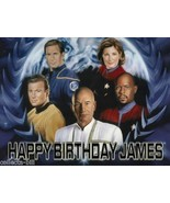 Star Trek Captains  Custom Cake  Frosting Sheet - $7.99