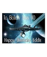 Star Trek Enterprise Custom Edible Cake Topper - $7.99