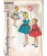 1950's DRESS Pattern 3095-s Child Size 6 Uncut - $12.99