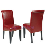 Crimson Red ECO Leather Parsons Dining Chairs w... - $92.00