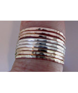 Stack rings bands 14K rose gold 14K yellow gold... - $89.50