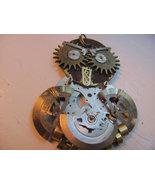 Steampunk owl  pendant  antique watch parts wir... - $67.50