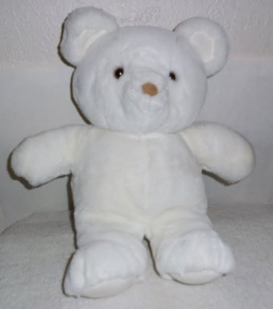 Dakin Plush White Teddy Bear Medium Vintage 1985