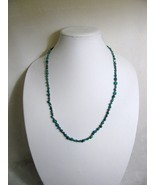 Turquoise Nugget and Copper Bead Necklace RKM424 - $25.00