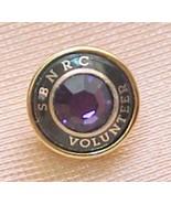 SBNRC Volunteer tac pin with Amythyst stone - $7.92