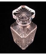 Pressed Glass Clear Wine Decanter Ornate Star B... - $49.49