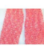 Handknit Ladies Fashion Scarf Sparkly Rose Yarn... - $8.50