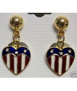 4th of July Americana Patriotic Earrings Red Bl... - $7.00