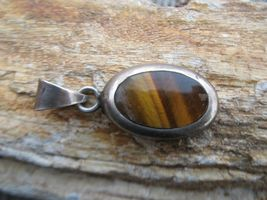 Vintage Taxco Mexico Sterling Silver Tiger Eye ... - $28.00