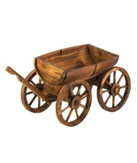 Barrel Flower Pot Wagon Plant Stand - $85.00