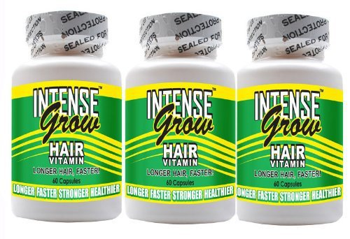 Long Hair Growth Vitamins - Intense Grow 3-Pack Faster Growing Hair ...