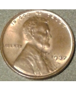 1937 Lincoln Wheat Cent - Grades CHBU  RB - Swe... - $7.50